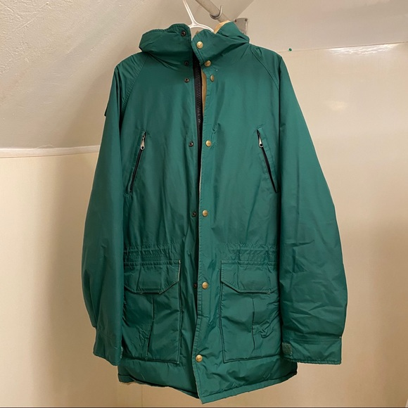 Vintage 90s L.L Bean button up made in USA Goretex jacket